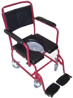 MedMobile® 2-in-1 Commode/Shower Wheelchair with Drop-down