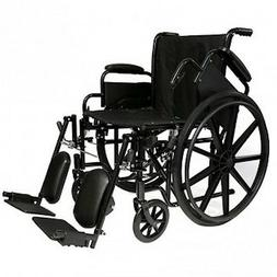 "Probasics 18"" Standard Wheelchair, w/ Choice Leg Rigging"