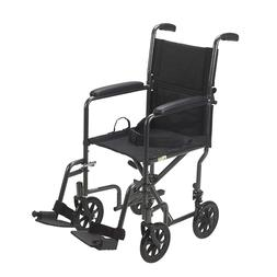 17 Inch Lightweight folding travel wheelchair transport chai