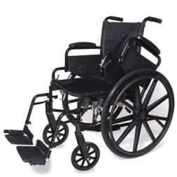 "18"" Self Transport Folding Wheelchair wDetachable Desk Armre"
