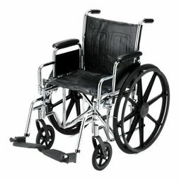 "NOVA Medical Products 18"" Steel Wheelchair w/Detachable Desk"