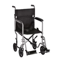 "NOVA Medical Products 19"" Steel Transport Wheelchair, Hammer"