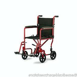 "ProBasics 19"" Transport Wheelchair - Folding Lightweight Whe"