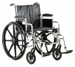 "NOVA Medical Products 20"" Steel Wheelchair w/Detachable Desk"