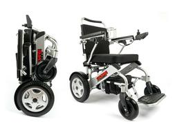 DELUXE LIGHTWEIGHT COLLAPSIBLE MOTORIZED WHEELCHAIR FOR ADUL