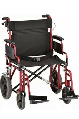 "NOVA Medical Products 22"" Heavy Duty Transport Wheelchair, R"
