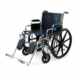 "Medline 24"" Bariatric Excel Wheelchair with Elevating Legres"