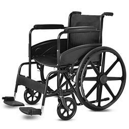 "Giantex 24'' Foldable Medical Wheelchair Manual, Large 23"" D"