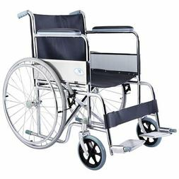 Giantex 24'' Lightweight Foldable Folding Wheelchair w/Swing