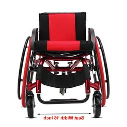 "24"" Sports Athletic Wheelchair Foldable Aluminum alloy Light"