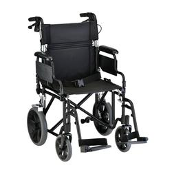 """NOVA Lightweight Transport Chair, 19"""" with Detachable Arms,"""