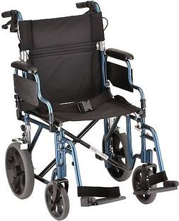 NOVA Lightweight Transport Chair with Locking Hand Brakes, 1