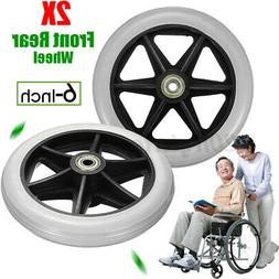 6'' Front Rear Wheel ~l Wheelchair Rollator Walker Replaceme