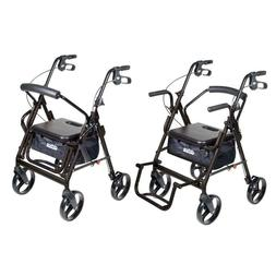 Drive 795BK Duet Dual Function Transport Wheelchair Walker R