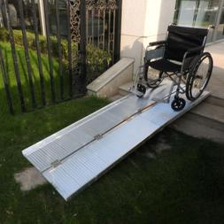 8FT Portable Aluminum Wheelchair Ramp Loading Scooter Mobili