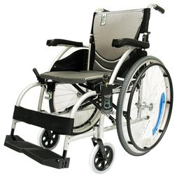 Karman S-105 27 lbs Ergonomic Wheelchair with Fixed Footrest