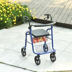 Adjustable Rollator Walker With Seat Foldable Drive Medical