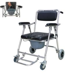 Aluminum Commode Wheelchair With Shower Wheelchair Bathroom