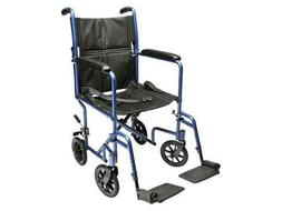 Everest & Jennings Aluminum Transport Chair with 5-Inch Swiv