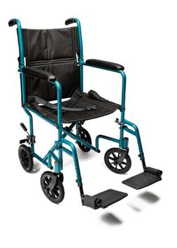 Everest & Jennings Aluminum Transport Chair with 5 Inches Sw