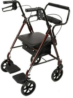 ProBasics Aluminum Transport Rollator w/ 8-inch Wheels