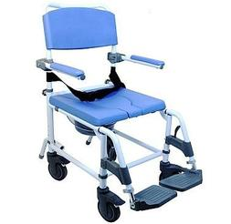 Attendant Shower Transport Chair Bath Toilet Commode Aluminu