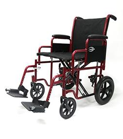Karman Bariatric Transport Chair with Removable Armrest Seat