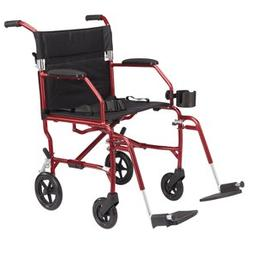 Medline Heavy Duty Bariatric Transport Chair, Extra Wide 22""