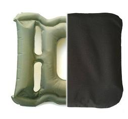 Blow Up Pressure Relief Cushion WITH COVER for Wheelchair. U