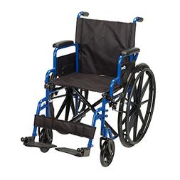 Drive Medical Blue Streak Wheelchair with Flip Back Desk Arm