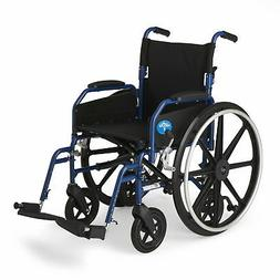 Medline Hybrid Wheelchair + Transport Chair with Removable D