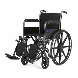 Medline Comfort Driven Wheelchair with Full-length Arms and