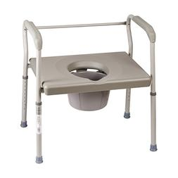 DMI Bedside Commode Chair, 500 lb Capacity Heavy-Duty Steel
