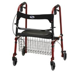 Cruiser De-Light Folding Rolling Walker Finish: Red