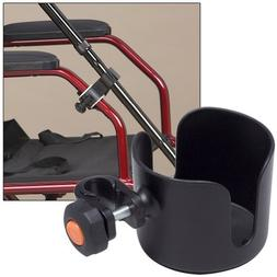 Cup & Cane Holders Clip On Accessory For Wheelchair Walker R