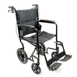 Deluxe Lightweight Aluminum Transport Wheelchair - 1 Each /