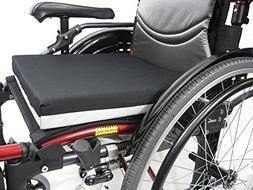 "Karman Deluxe Wheelchair Cushion, Black, 18""x16""x2"""