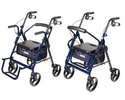 Drive Medical Duet Transport Wheelchair - Rollator Walker