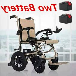 Electric Lightweight Folding Motorized Power Wheelchair Medi