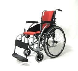 Karman Ergonomic Wheelchair, Pearl Silver Frame and Orange I