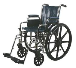 "Medline Excel 2000 Wheelchair, 16"" Wide Seat, Desk-Length Ar"