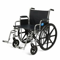 """Medline Excel Extra-Wide 24"""" Bariatric Wheelchair MDS806900"""