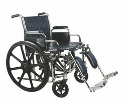 Medline Excel Extra-Wide Wheelchair, Wide Seat, Desk-Length