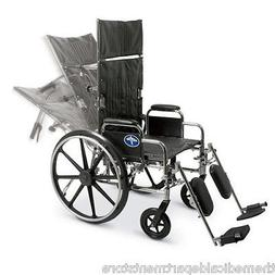 "Medline Excel Reclining Wheelchair. Recliner. 18"" Seat. 22""H"