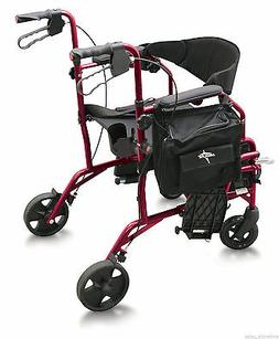 MEDLINE Excel Translator 2 IN 1 Transport Chair Combo Wheelc