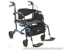 MEDLINE Excel Translator 2 IN 1 Transport Chair Wheelchair /