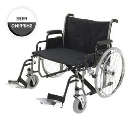 Probasics Extra Wide K7 Wheelchair with Swing Away Legrests