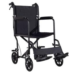 Foldable Lightweight Manual Transport Medical Wheelchair Wid