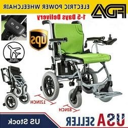 Foldable Lightweight Portable Electric Power Wheelchair Mobi