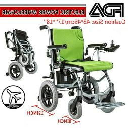 Folding Lightweight Electric Power Wheelchair Foldable Mobil